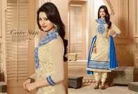 Elite Cream Embroidery Work Churidar Salwar Suit