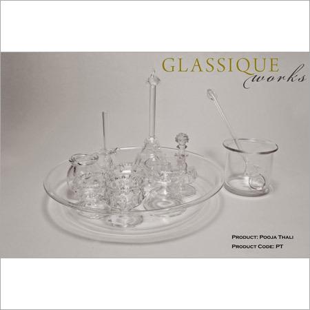 Glass Pooja Thali