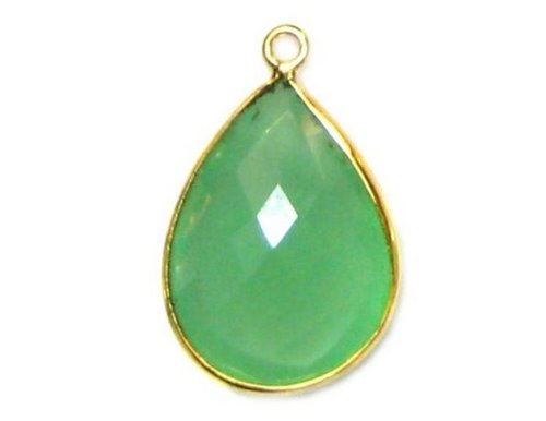Sea Green Chalcedony Gemstone Connector