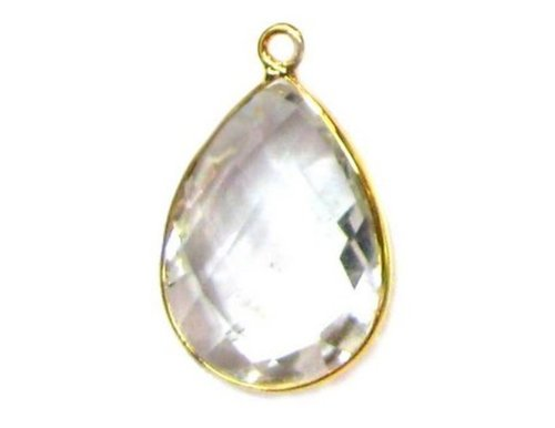 White Topaz Gemstone Connector