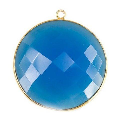 Blue Chalcedony Gemstone Connector