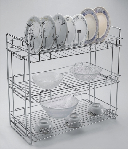 Standing Kitchen Organiser Folding(Triple Shelf)