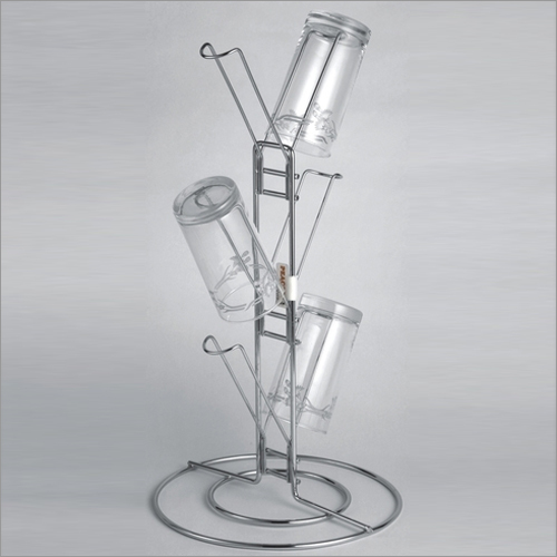 6 Line Standing Glass Holder