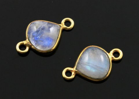 Natural Moonstone Gemstone Connectors