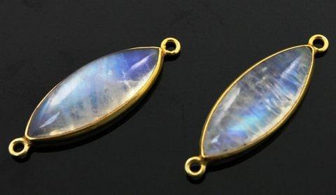 Rainbow Moonstone Gemstone Connectors