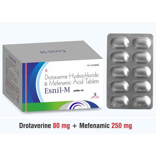 Drotaverine .. 80 mg. + Mefenemic .. 250 mg.