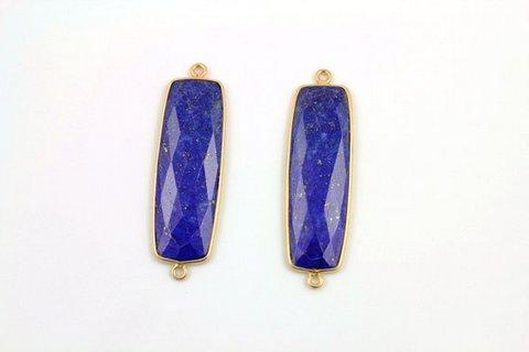 Lapis Lazuli Antique gemstone connectors