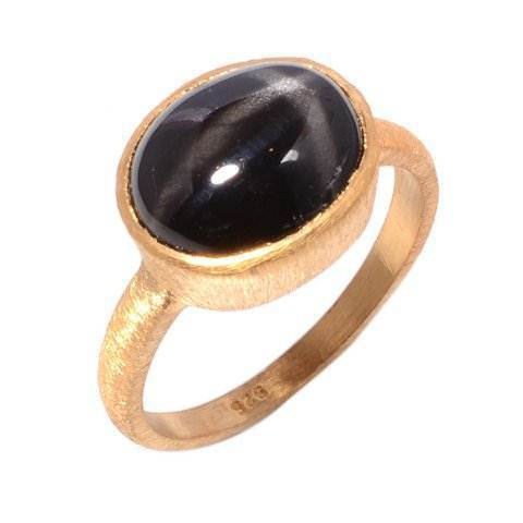 Black Star Gemstone Ring