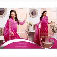 Shaded Pink Chiffon Straight Salwar Kameez with Dupatta