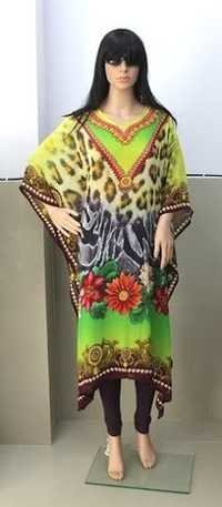 Designer Long Georgette Printed Kaftan