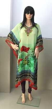 Designer Long Georgette Printed Kaftan