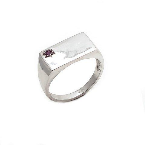 Ruby Gemstone Designer Men's Ring