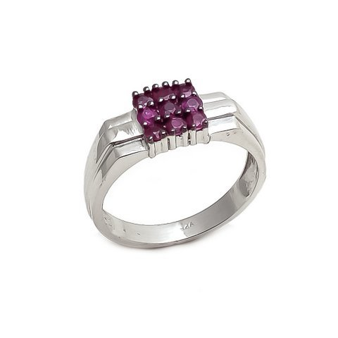 Ruby Unique Gemstone Designer Men's Ring