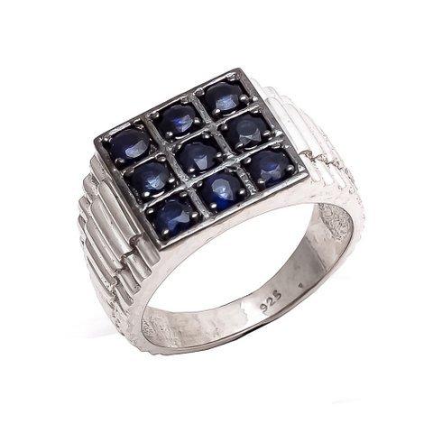 Sapphire Charm Gemstone Men's Ring