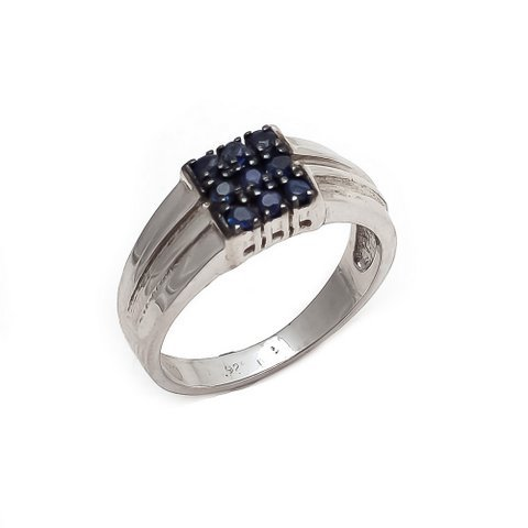 Natural Sapphire Gemstone Men's Rings