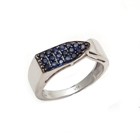 Natural Sapphire Gemstone Men's Rings
