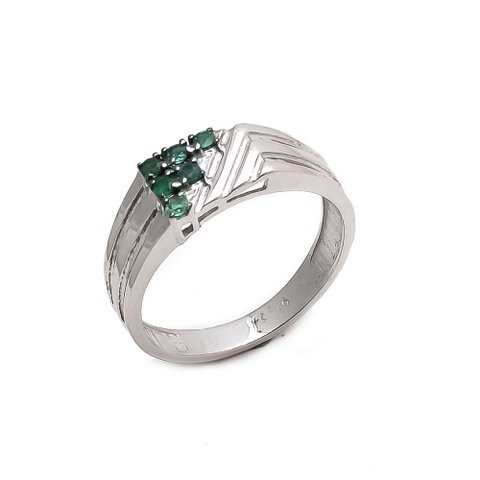 Natural Green Onyx Gemstone Charm Mens ring 925 Sterling Silver
