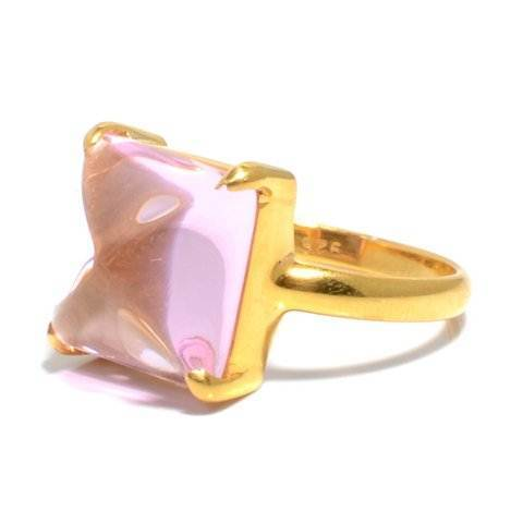 Pink  Quartz Gemstone Ring
