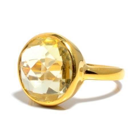 Lemon Topaz Gemstone Ring