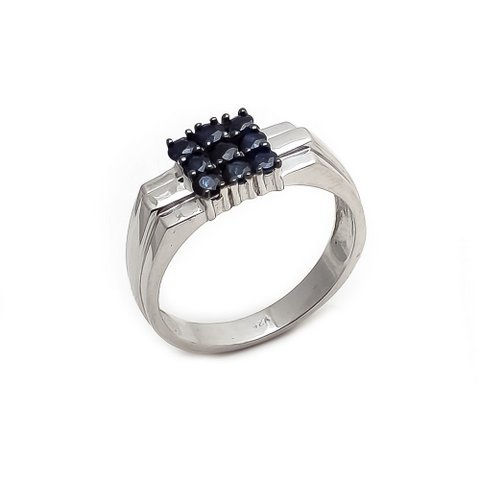Natural Sapphire Gemstone Charm Mens ring