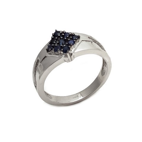 Natural Sapphire Gemstone Silver Mens ring