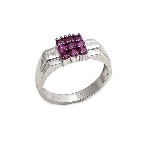 Natural Ruby Unique Gemstone Designer Men's Ring