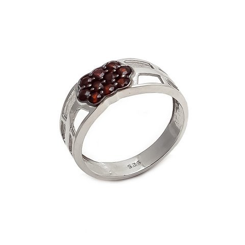 Garnet Charm Gemstone Ring
