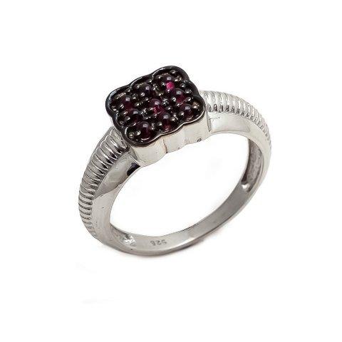 Natural Garnet Gemstone Silver Designer Mens ring