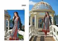 Designer Georgette Anarkali Suit (Semi-Stitched)