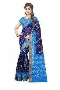 Pure Cotton Bandhani Sarees