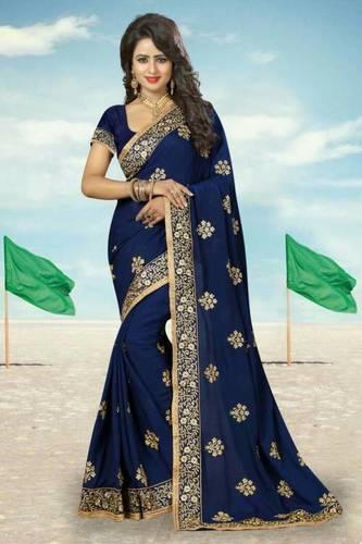 Wedding wear crepe sarees