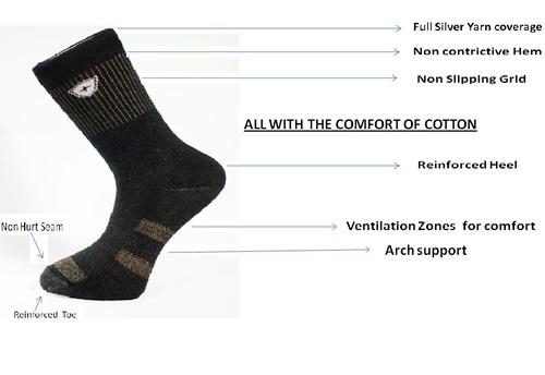 Silver Fibre Socks