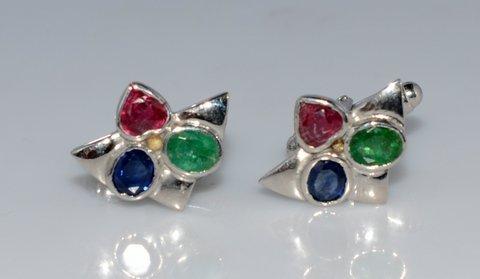 Natural Precious Gemstone Men Cufflings