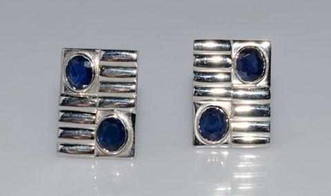 Natural Sapphire Gemstone Oval Unique Designer Mens ring