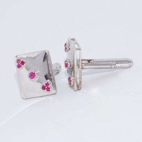 Natural Ruby Gemstone wholesale Handmade  Designer Mens Cufflinks