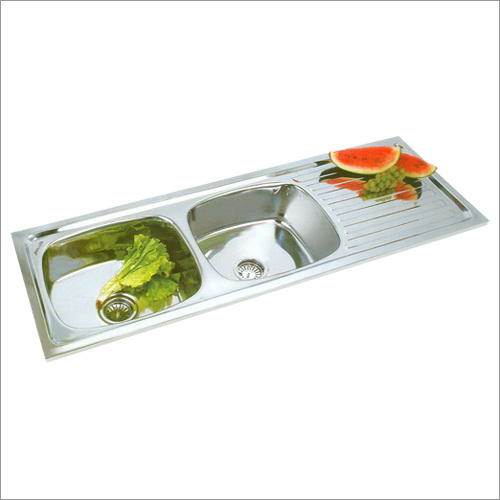 Double Bowl with Drain Board