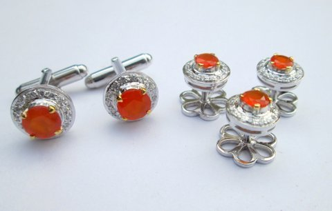 Mens Gemstone Cufflinks