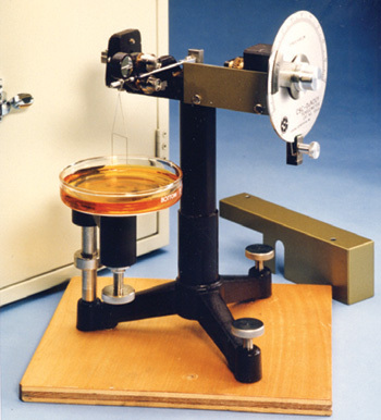 Surface Tension by Surface Tensiometer