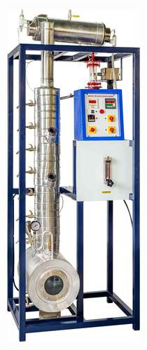 BUBBLE CAP DISTILLATION COLUMN