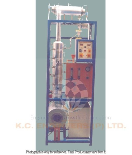 CONTINUOUS BUBBLE CAP DISTILLATION COLUMN