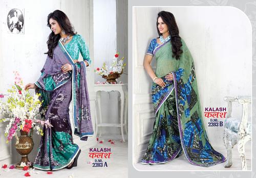 Colorful Printed Sarees
