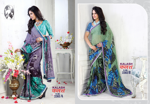 Colorful Printed Sarees