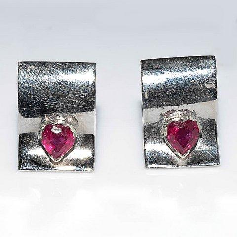 Natural Ruby Gemstone Men Cufflinks