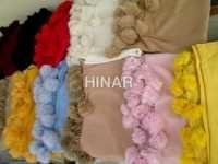 Pashmina Shawl With Fur Ball