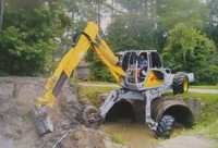 Walking Excavator