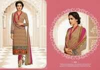 Latest Indian Light Brown Salwar Kameez