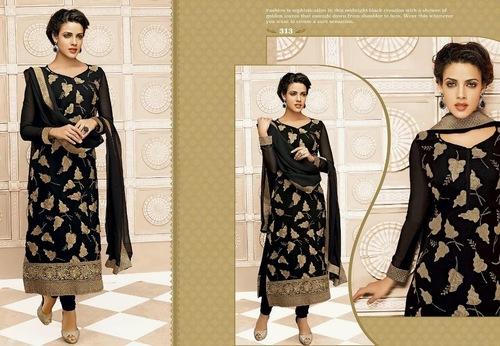 Elegent Black partywear Salwar kameez
