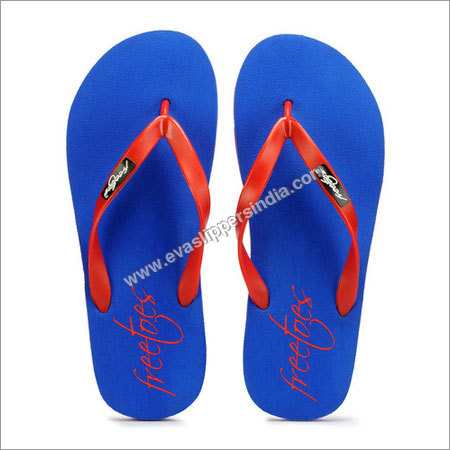 Mens Red and Blue Flip Flops