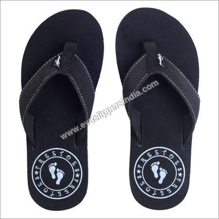 Black Flip Flop With Stamp