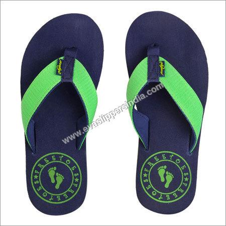 Circle Navy Lime Flip Flops
